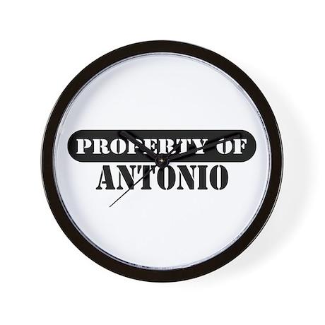 Property of Antonio Wall Clock