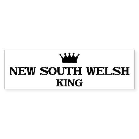 new south welsh King Bumper Sticker