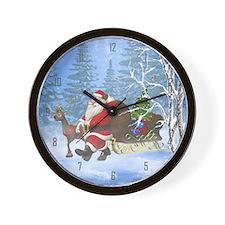 Santa is coming Wall Clock