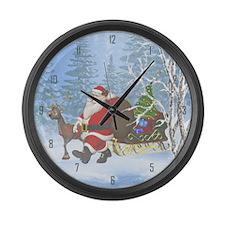 Santa is coming Large Wall Clock