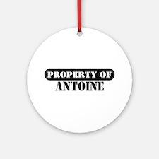 Property of Antoine Ornament (Round)
