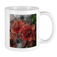 flowers such as stained glass Mugs
