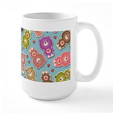 Colorful Teddy Bears Pattern Mugs