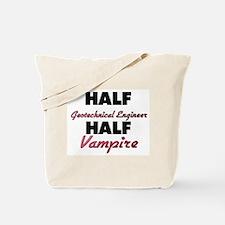 Half Geotechnical Engineer Half Vampire Tote Bag