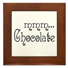 mmm... Chocolate Framed Tile