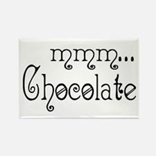 mmm... Chocolate Rectangle Magnet