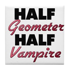 Half Geometer Half Vampire Tile Coaster