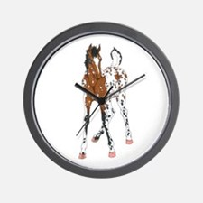 Appaloosa Foal Wall Clock