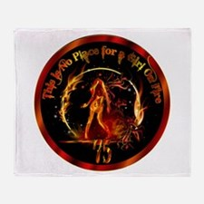 Girl on Fire Throw Blanket
