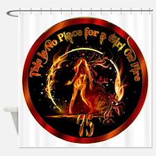 Girl on Fire Shower Curtain