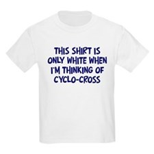 Thinking About Cyclo-Cross Kids T-Shirt