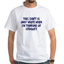 Thinking About Croquet Shirt