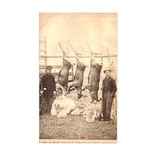 1916 Buck pole Rectangle Decal