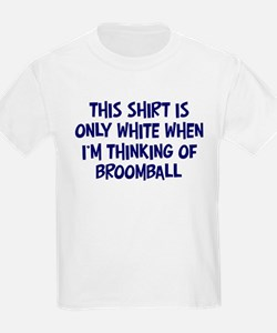Thinking About Broomball Kids T-Shirt