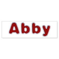 Abby Santa Fur Bumper Bumper Sticker