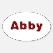 Abby Santa Fur Oval Decal