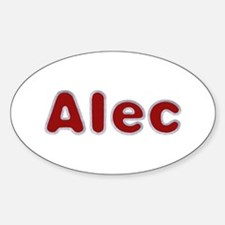 Alec Santa Fur Oval Decal