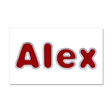 Alex Santa Fur 20x12 Car Magnet