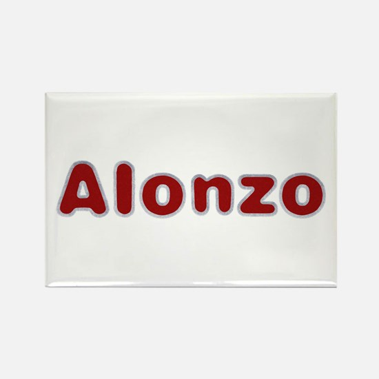Alonzo Santa Fur Rectangle Magnet