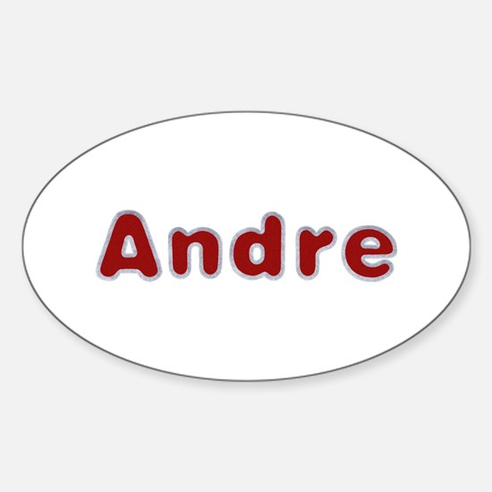Andre Santa Fur Oval Decal