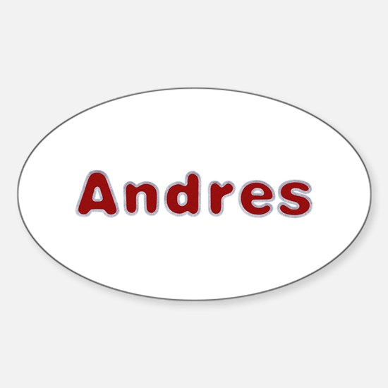 Andres Santa Fur Oval Decal