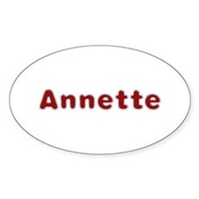 Annette Santa Fur Oval Decal