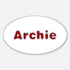 Archie Santa Fur Oval Decal