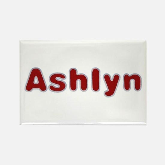 Ashlyn Santa Fur Rectangle Magnet