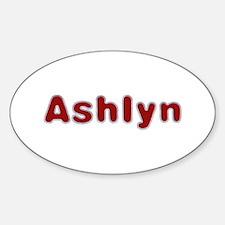 Ashlyn Santa Fur Oval Decal