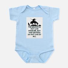 BRAVE LIVE FOREVER Infant Bodysuit