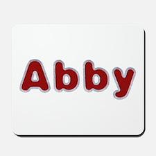 Abby Santa Fur Mousepad