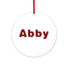 Abby Santa Fur Round Ornament