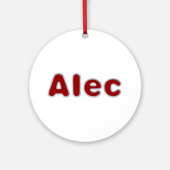 Alec Santa Fur Round Ornament