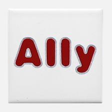 Ally Santa Fur Tile Coaster