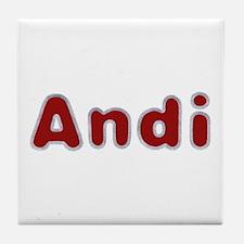 Andi Santa Fur Tile Coaster