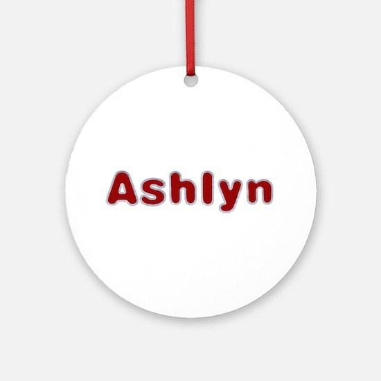 Ashlyn Santa Fur Round Ornament