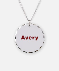 Avery Santa Fur Necklace Circle Charm