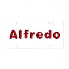 Alfredo Santa Fur Aluminum License Plate