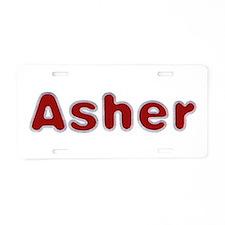 Asher Santa Fur Aluminum License Plate