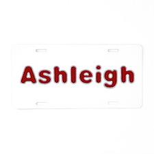 Ashleigh Santa Fur Aluminum License Plate