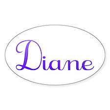 Diane Oval Bumper Stickers