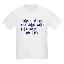 Thinking About Archery Kids T-Shirt