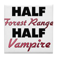 Half Forest Ranger Half Vampire Tile Coaster