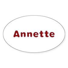 Annette Santa Fur Oval Sticker 10 Pack