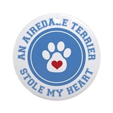 Airedale/My Heart Ornament (Round)