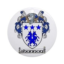 Shannon Coat of Arms Ornament (Round)