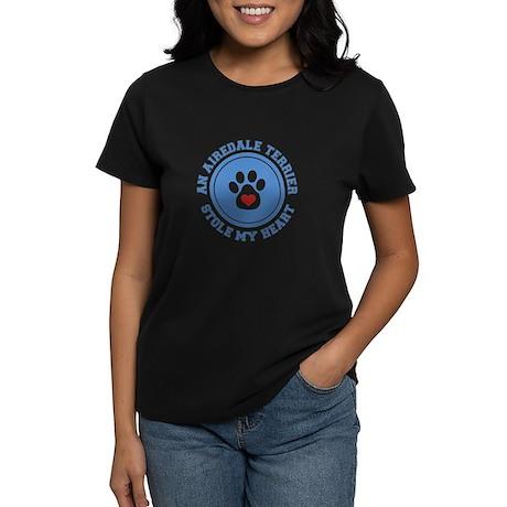 Airedale/My Heart Women's Dark T-Shirt