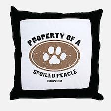Peagle dog Throw Pillow