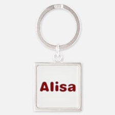 Alisa Santa Fur Square Keychain