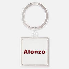 Alonzo Santa Fur Square Keychain